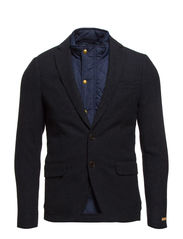Half lined wool blend blazer with inner bodywarmer - 580 night melange
