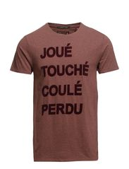 French shortsleeve group tee in neps jersey - 340 cranberry melange
