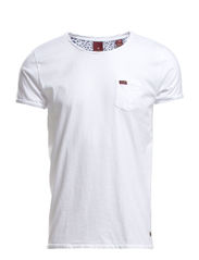 Classic crewneck tee with chestpocket - 00 white