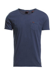 Classic crewneck tee with chestpocket - 57 navy
