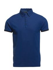 Chic blue yarn dyed polo serie - 48 denim blue