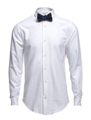 Longleeve party shirt in different weave structures - 00 white