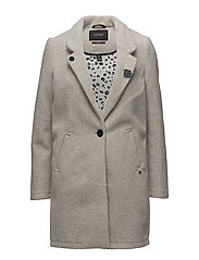 Bonded wool coat - GREY MELANGE