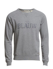 Garment dyed signature Amsterdams Blauw sweat - 970 grey melange