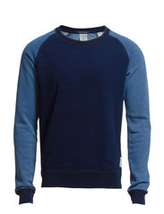 Home Alone two tone indigo sweat - 51 indigo