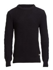 Cable knit crew neck pullover - 58 night
