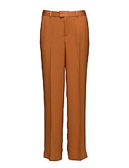 Wide leg tailored pant in bright colours or floral print - SPICE