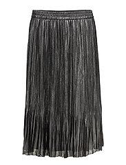 Below the knee pleated skirt - SILVER