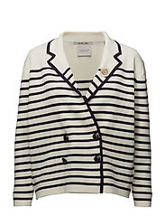Sailor inspired cardigan in stripes - COMBO B