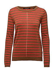 Fine gg pullover lurex knit in stripes or solid - COMBO A