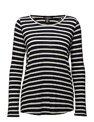 Basic long sleeve tee in stripes - COMBO B