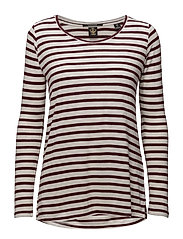 Basic long sleeve tee in stripes - COMBO C