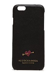 Leather iPhone 6 case in various combos - BLACK