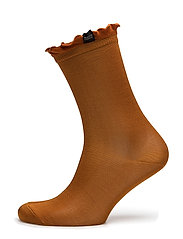 Mercerised sock in bright colors and stripe, sold in a box - SPICE