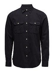 Oversized garment dyed workwear shirt - 95 ANTRA