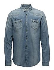 Ams Blauw sawtooth shirt - 52 WASHED INDIGO