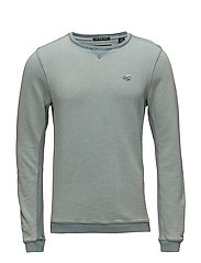 Indigo crew neck sweat - 52 WASHED INDIGO