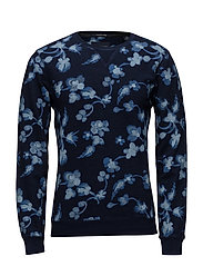 Ams Blauw allover print indigo sweat - 17 COMBO A