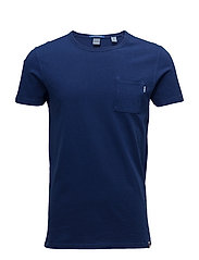 Scotch  &  Soda - Ams Blauw Garment Dyed  Tee