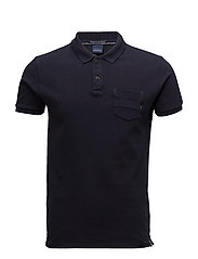 Ams Blauw garment dyed polo - 58 NIGHT