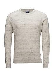 Ams Blauw cotton linen knit - 98 GREY MELANGE