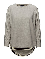 Loose fitted sweat with contrast ribbing detailing - 0G GREY MELANGE