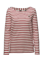Scotch  &  Soda - Classic Breton Tee With Shoulder Closure
