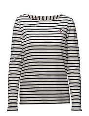 Classic breton tee with shoulder closure - 20 COMBO D