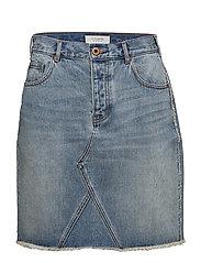 Scotch  &  Soda - Seasonal Denim Skirt - Customized Blauw