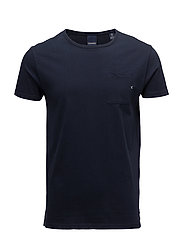 Ams Blauw 1 pocket tee - 57 NAVY