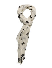 Wool scarf with allover star print - COMBO A