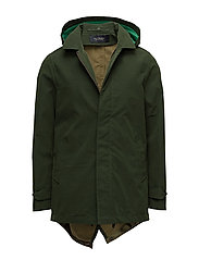 Classic hooded parka - OLIVE