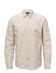 RELAXED FIT- Classic shirt in cotton/linen blend - COMBO B