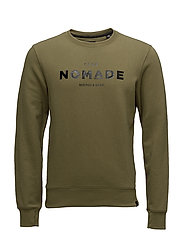 Club Nomade crew neck sweat - 1773 OLIVE GREEN