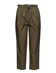Cropped paperbag pants - ARMY