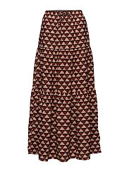 Tiered printed maxi skirt - COMBO A