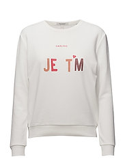 Clean crew neck sweat with various artworks - OFF WHITE