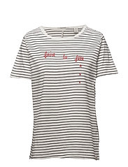 Short sleeve tee with french themed artworks - COMBO B