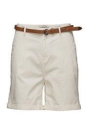 Prima cotton chino shorts - OFF WHITE