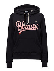 Hoodie with BLAUW chest artwork - 58 NIGHT