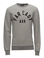 Oversized cut and sew text sweat - 98 GREY MELANGE