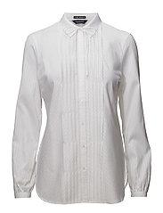 Feminine stripe shirt - DENIM WHITE