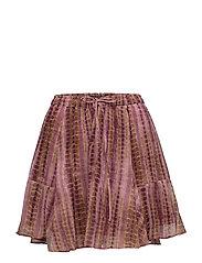 Short drapey printed skirt - COMBO T