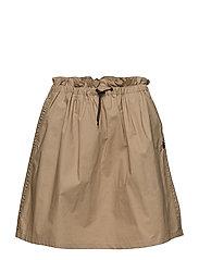 Crispy cotton mini skirt - SAND
