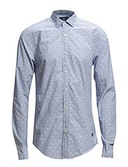 Longsleeve shirt in polka dot jacquard weave. - dessin A