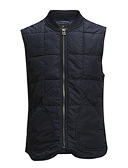 Bomber bodywarmer in lightweight nylon quality. - 57 navy