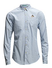 Crispy blue senor retro shirt with fixed pochet - dessin A