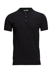Shortsleeve knitted polo. - 58 night