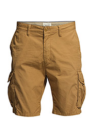 Summer lightweight canvas cargo short. - 82 tabacco