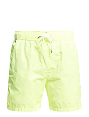 Bright coloured medium length swimshort. Sold in bag. - 10 lime